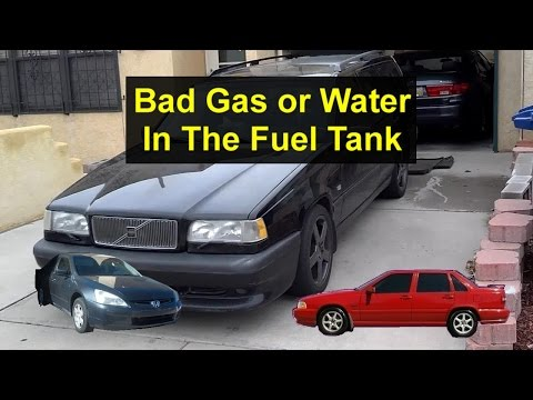 Water or bad gas in the car or truck fuel tank, how to get it out. - VOTD