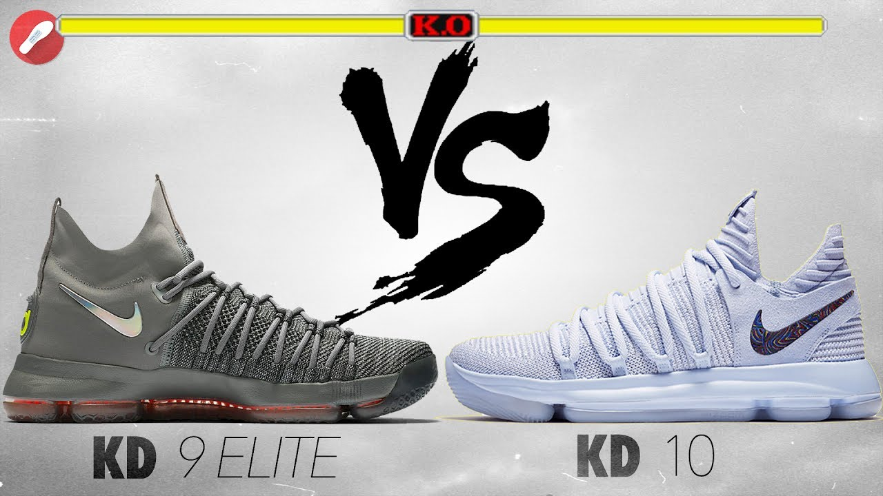 quality design 74ee5 828fd Nike Kd 9 Elite vs Nike Kd 10! - YouTube