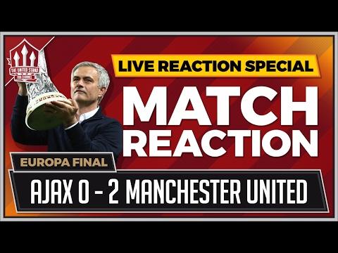 Ajax vs Man Utd 0-2 | Pogba & Mkhitaryan Goals Win The Europa League!