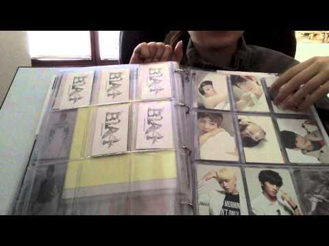 exo bap got7 b1a4 card collection