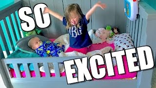 PRICELESS TODDLER BED REACTION!