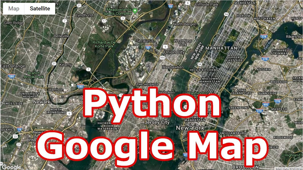 Python Google Map Introduction | Creating Maps With gmap | Google Map