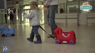 Dětské odrážedlo kufr na kolečkách Pes Bobby BIG s