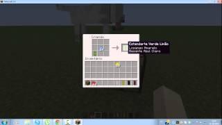 como fazer uma bandeira no minecraft 1 8
