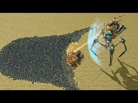 REAL Size COLOSSUS vs 3000 MARINES - Starcraft 2 MASSIVE Bat