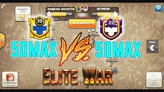 ELITE WAR!! 50MAX BASE VS 50MAX BASE - ANY AIR & GROUNDS ATTACK TH12 ( Clash of Clans )