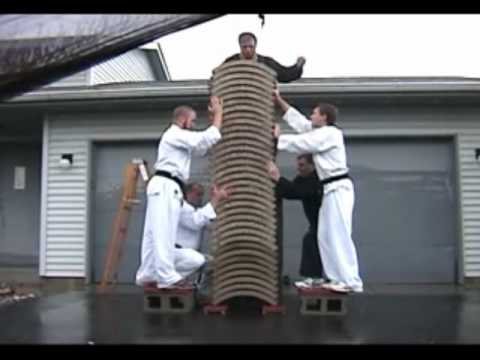 Karate Master Breaks 35 Bricks With Bare Hands Youtube