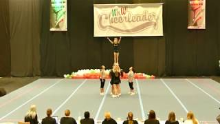 "Bielefeld Wildcats ""Silver Cats"" U17 All Girl Group Stunt CLM NRW 2018"