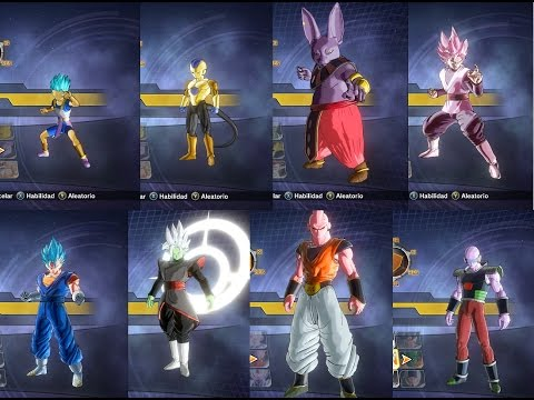 Pack Mods personajes jugables X2M Dragon Ball Xenoverse 2 (New character slots)