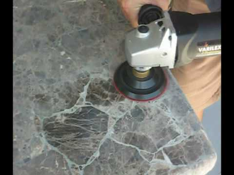Polishing Granite Dry Youtube