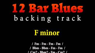 Slow blues backing track in F minor for guitar solo (12 bar blues)