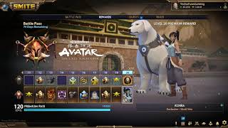 Smite 7.7 Avatar The Last Airbender New Battlepass 9 All Levels Free and Paid Path