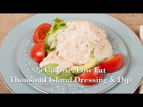5 Minute 25 Calorie Homemade Thousand Island Dressing or Dip (HC 101) DiTuro Productions