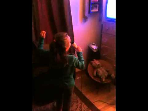 Leona and Josiah sing karaoke