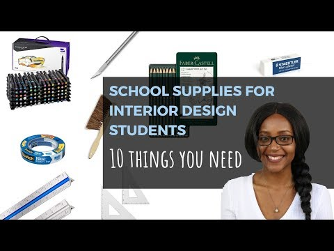 School Supplies for Interior Design Students - PART 1