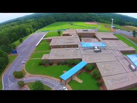 Fly-Over Southwestern Randolph Middle School- dji Phantom 2 Vision +
