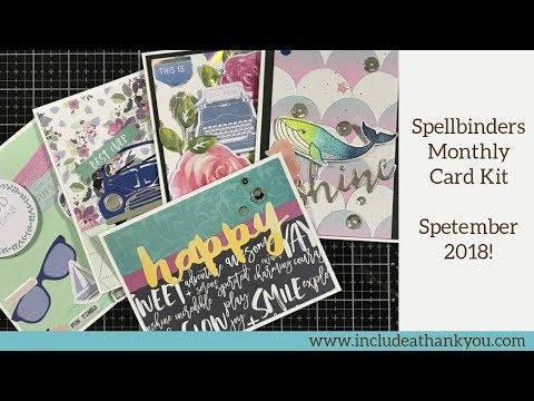 5 Cards - 1 Kit & Reveal   Spellbinders Monthly Card Kit   September 2018