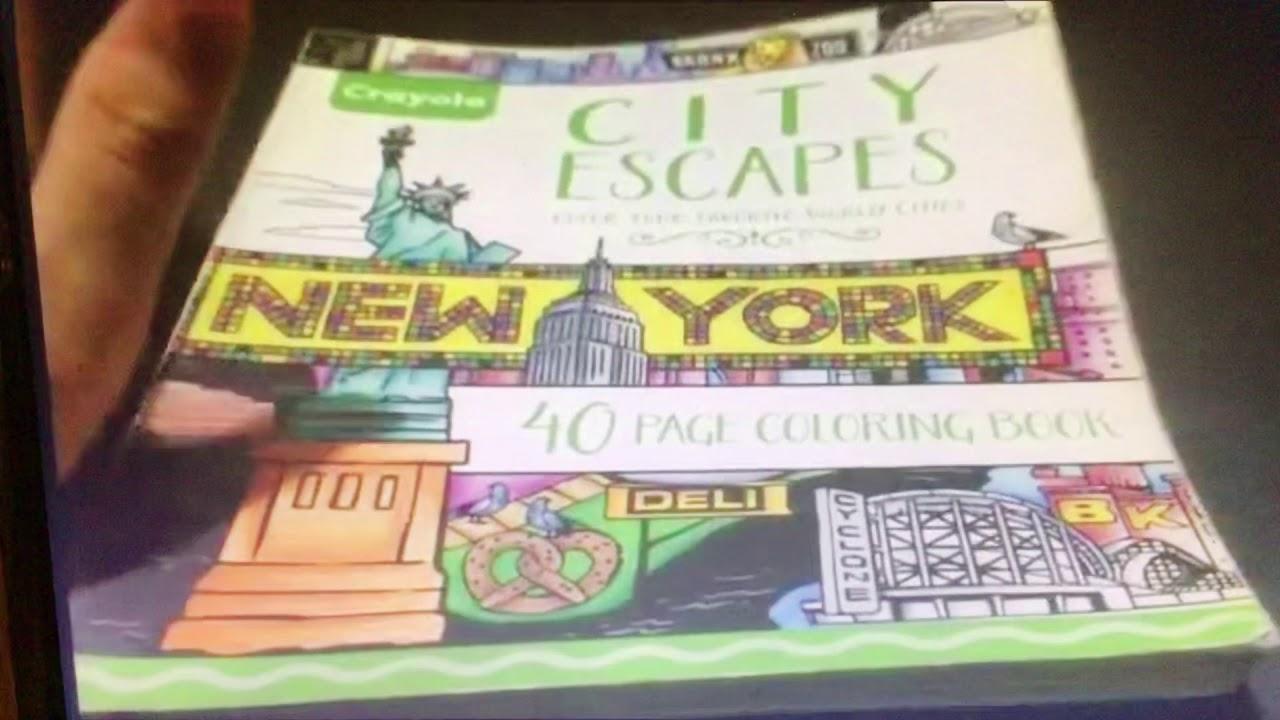 Crayola City Escapes Coloring Book - YouTube