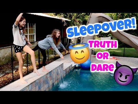 Truth or Dare Sleepover w Annie Rose Fun Things to do with friends Hope Marie Vlogs