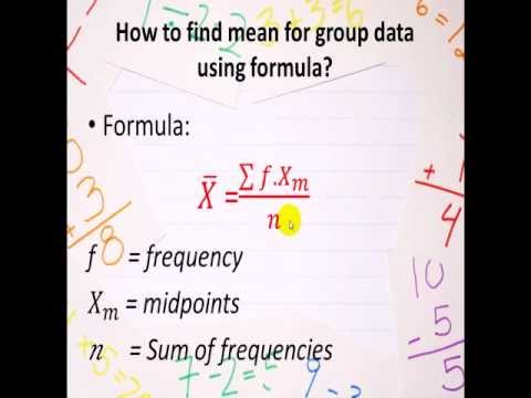 Group Work Statistic Mean Median Mode Grouped Data Youtube