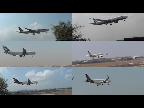 Back 2 Back 17 Plane Landing at Mumbai International Airport
