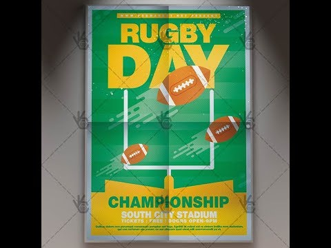 Rugby Day - Sport Flyer PSD Template
