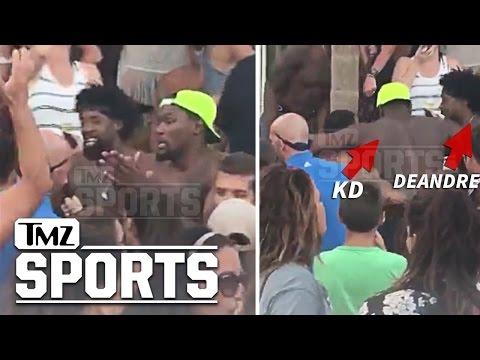 Kevin Durant & Deandre Jordan- Bikinis, Bottles & No Shirts- Victory Turn Up In Greece | TMZ Sports
