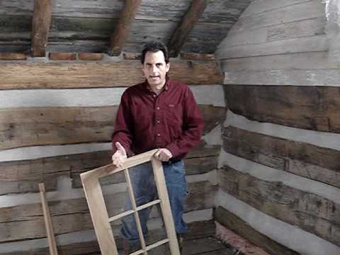 Log Cabin Project Inside Chinking And Windows 10   YouTube