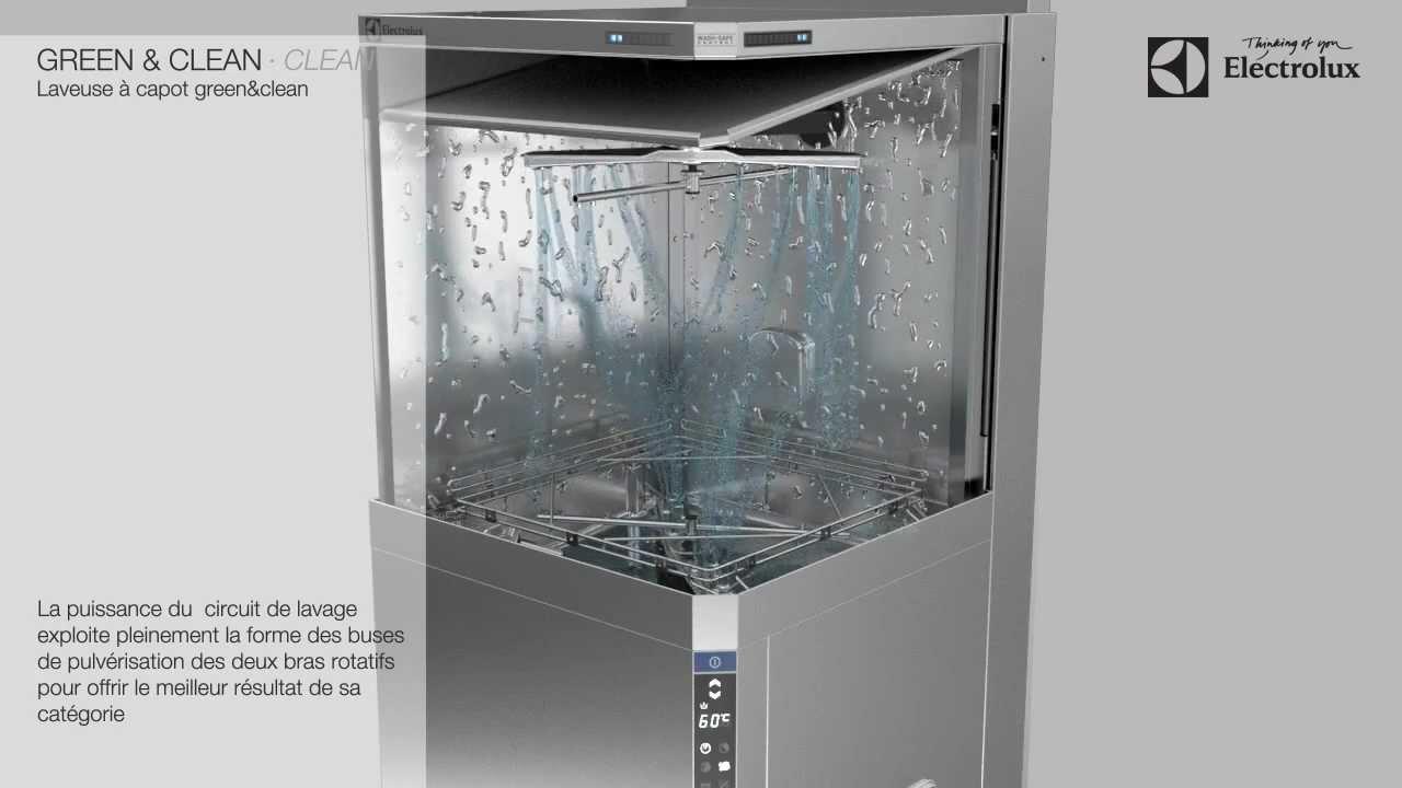 Extrêmement Lave-vaisselle à capot Electrolux green&clean - YouTube KQ12