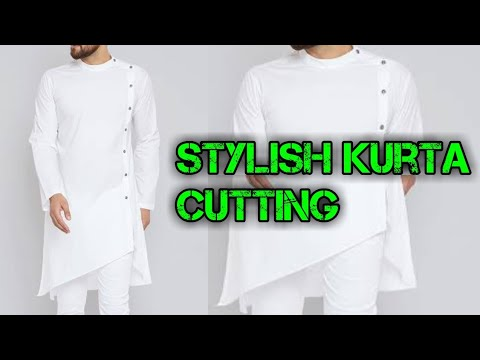Stylish man kurta full cutting, deginer kurta cutting for man
