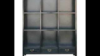 Black Chinese Multiple Shelves Display Cabinet Wk1410