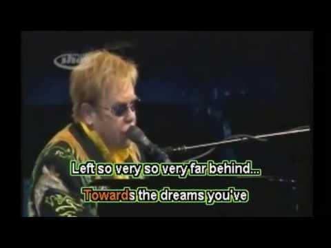 Elton John -  Skyline Pigeon -  Karaoke