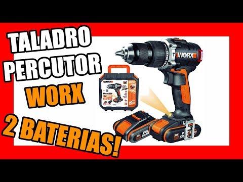 ESPECTACULAR TALADRO PERCUTOR CON 2 BATERIAS WORX | HERRAMIENTAS ELECTRICAS