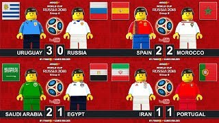 Spain Morocco • Iran Portugal • Uruguay Russia • Saudi Arabia Egypt • World Cup 2018 Lego Football