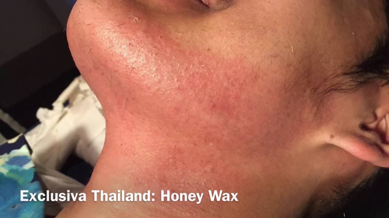 how to get wax off face after waxing