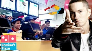 PRANK IN DOMINOS PIZZA RAPPING PRANK  ORDERING BY RAPPING