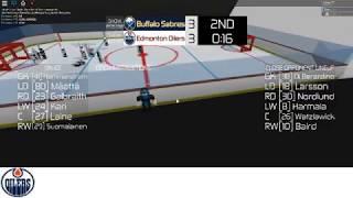 Edmonton @ Sabres RHML (Roblox Hockey Manager League) (READ DESC)