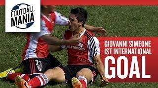 "Giovanni  ""El Cholo"" Simeone´s 1st International Goal - River Plate (ARG)"