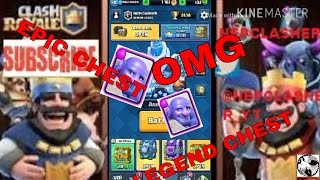 clash royale - OMG !!!!! LEGENDARY AND EPIC CHEST