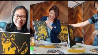 Jakarta Glitter Painting Workshop by Ronal Sand Artist