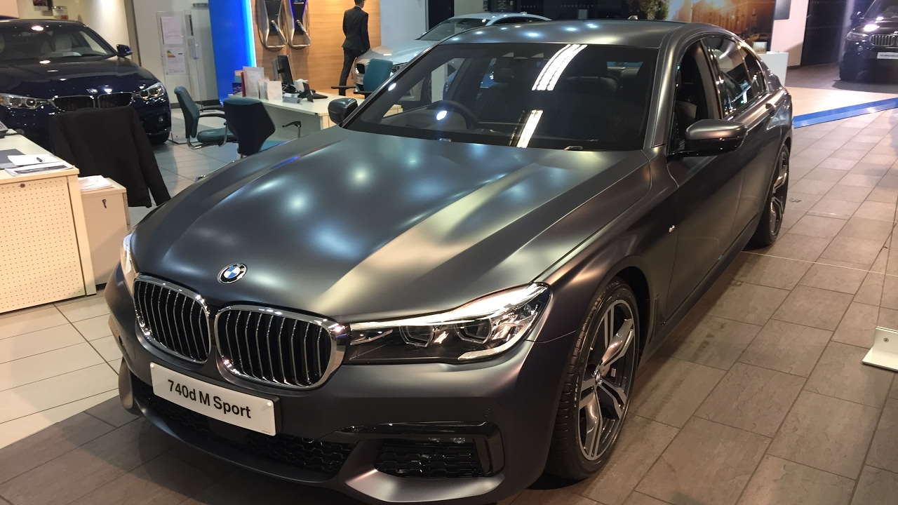 2017 bmw 740d g11 xdrive 320 hp matte frozen paint exterior and interior review youtube. Black Bedroom Furniture Sets. Home Design Ideas