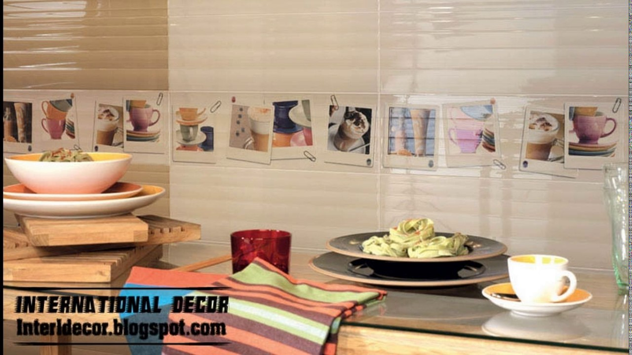 Kitchen wall tiles design photos - YouTube