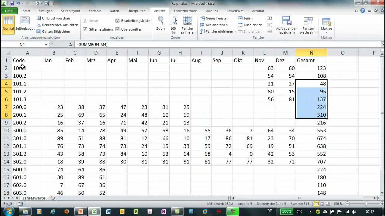 Excel - Pivot - Mehrere Dateien auswerten - YouTube