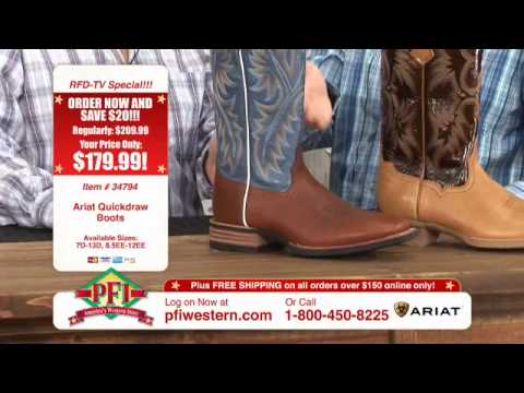 b232c182536 Ariat Tall Quickdraw and Tombstone Cowboy Boots