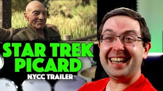 REACTION! Star Trek: Picard NYCC Trailer - Patrick Stewart CBS All Access Series 2020