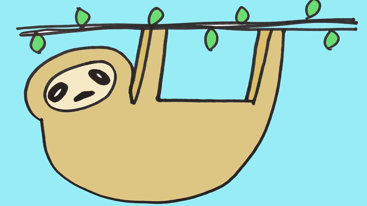 drawing a sloth step by step for beginners