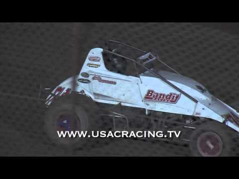 Colby Copeland's victory lane donuts - 2014 Winter Challenge - Canyon Speedway Park