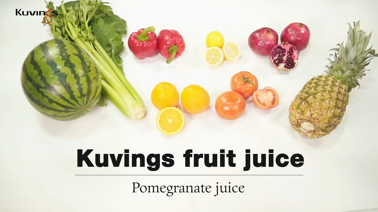 Kuvings whole slow juicer(B3000) detox juice recipe : Pomegranate juice - YouTube