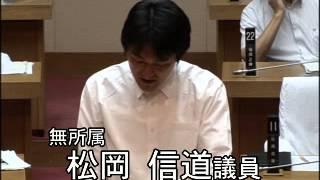 平成26年7月臨時会 (7月23日) 松岡信道 (質疑内容) 1.出産と子育...