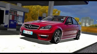 City Car Driving - Mercedes-Benz C63 AMG V8 W204 2012 | Custom SOUND | 1080p & G27